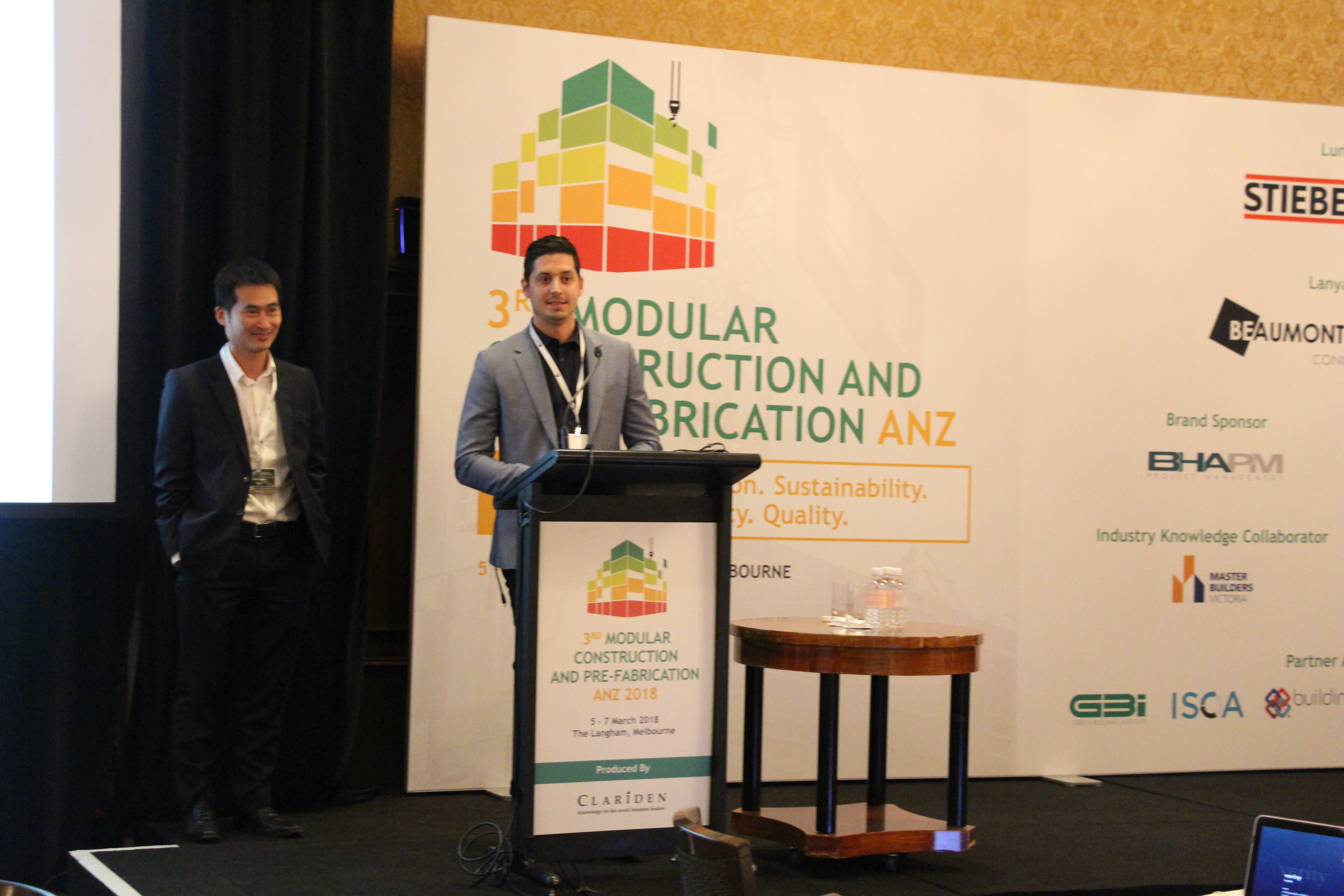 Nick Strongman presents at the 3rd Modular Construction and Prefabrication Conference