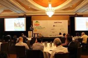 Director Nick Strongman presents at the 3rd Modular Construction and Prefabrication Conference